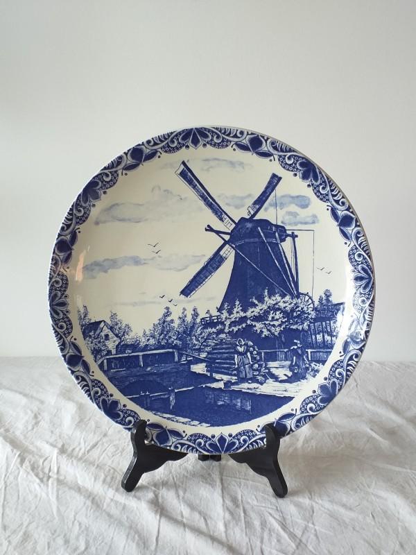 Sierbord Delfts Blauw met molen