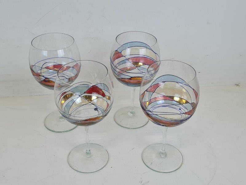 4 Kristal Glazen - Roemeens