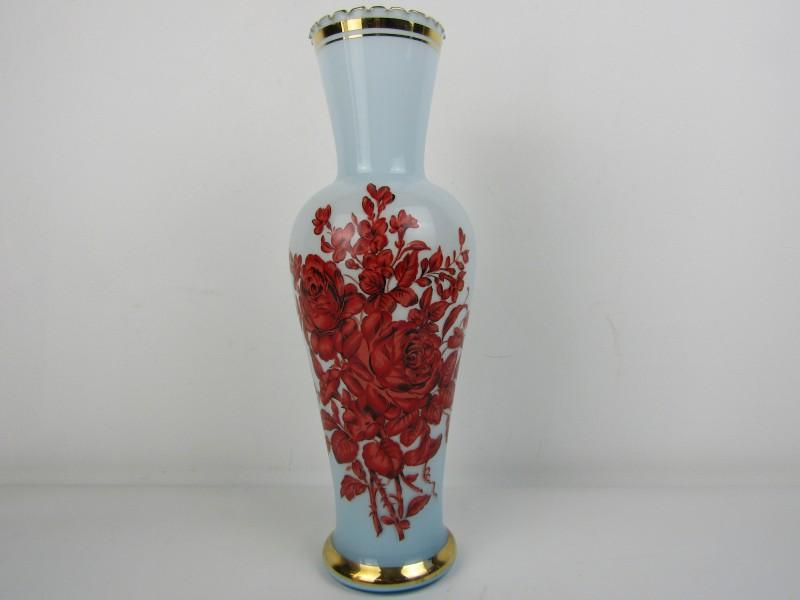 Retro Vaas in Opaline glas