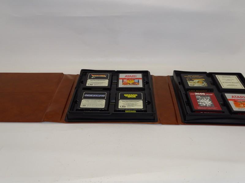 Kaft met 8 Atari 2600 spellen, 1978 - 1988