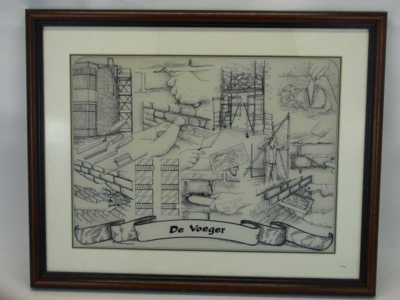 Genummerde Glasgravure: De Voeger, Gerard Swaenepoel
