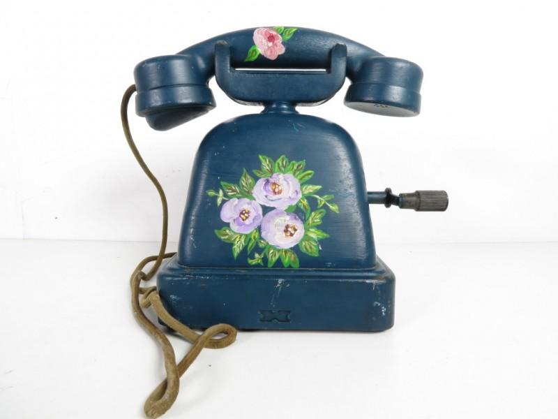 Beschilderde vintage telefoon