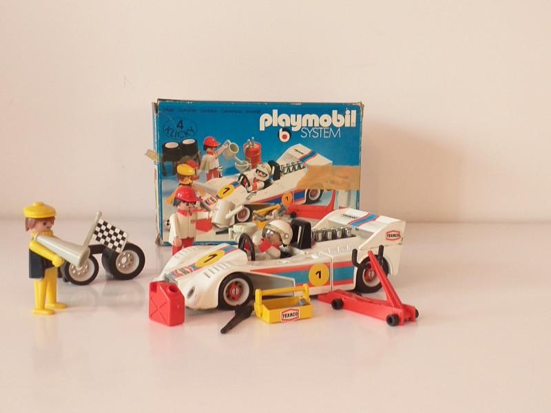 4 sets playmobile (racewagens, boot, visser)