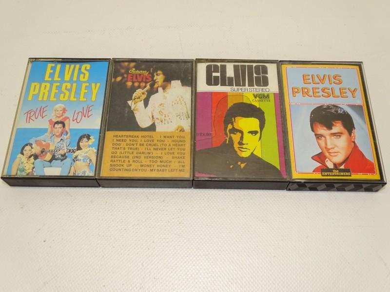 4 x Muziekcassette: Elvis Presley