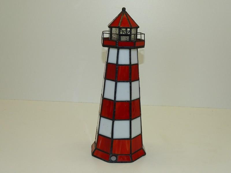 Tafellamp / Tiffanylamp: Vuurtoren, Nauticalia London