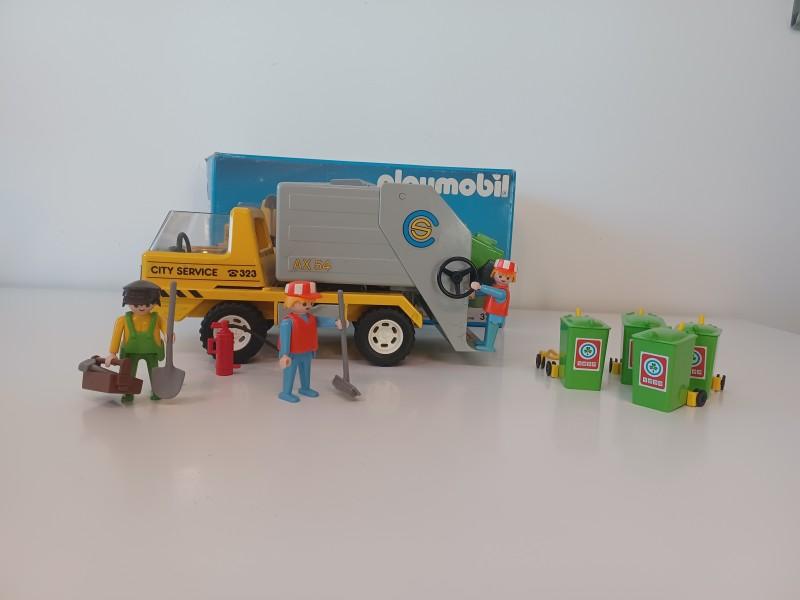 Playmobile vuilniswagen + melkmeisje