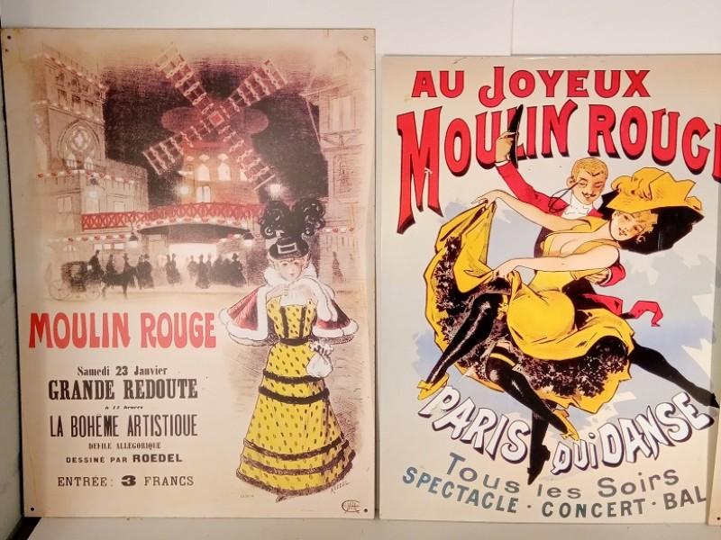 Reeks van 4 reclame borden uit Parijs