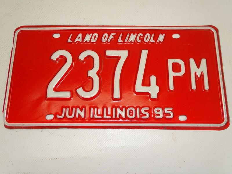 Amerikaanse Nummerplaat: Land Of Lincoln, Illinois
