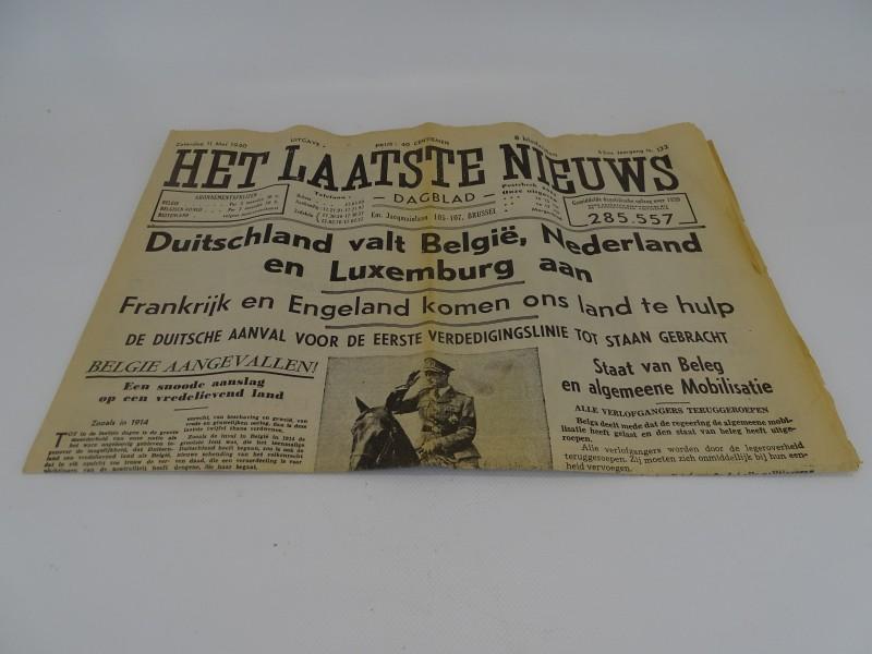Oorlogskrant: Het Laatste Nieuws, 11 mei 1940