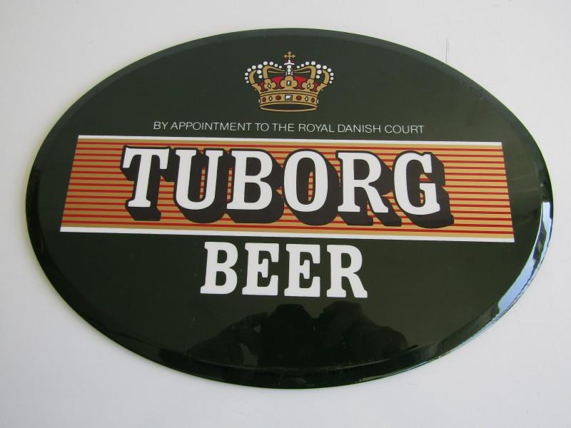 Retro Reclamebordje: Tuborg Beer