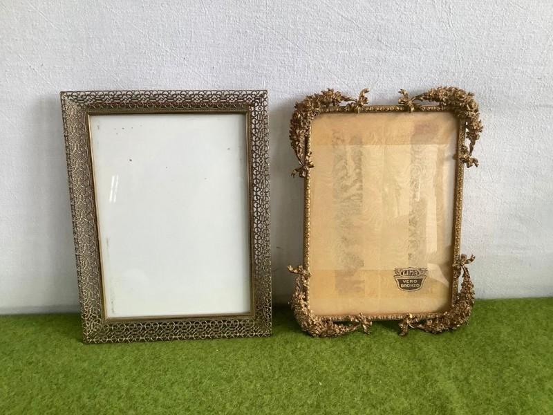 2 oude koperen fotokadertjes