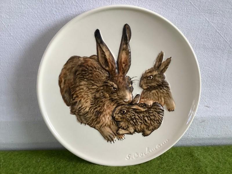 Sierbord met konijnen: Goebel
