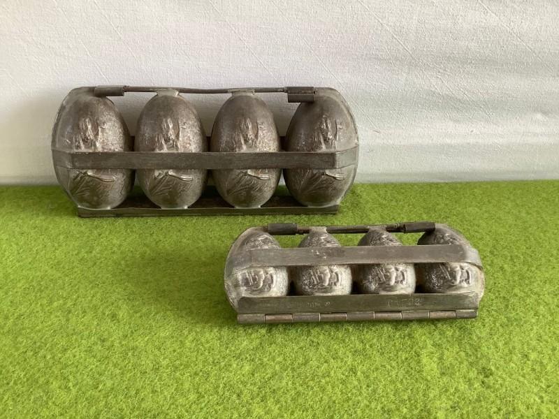 Oude chocoladevormen voor paaseieren