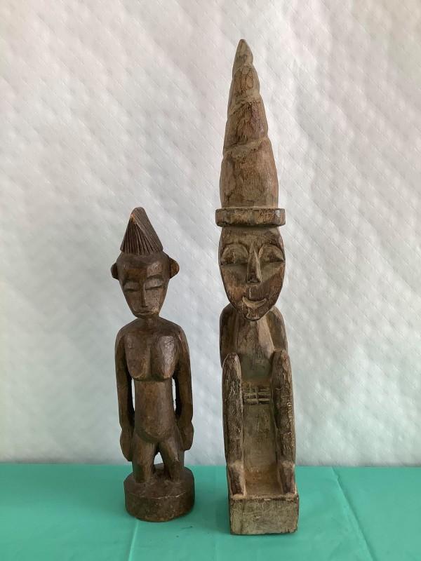 Twee kongolese beelden