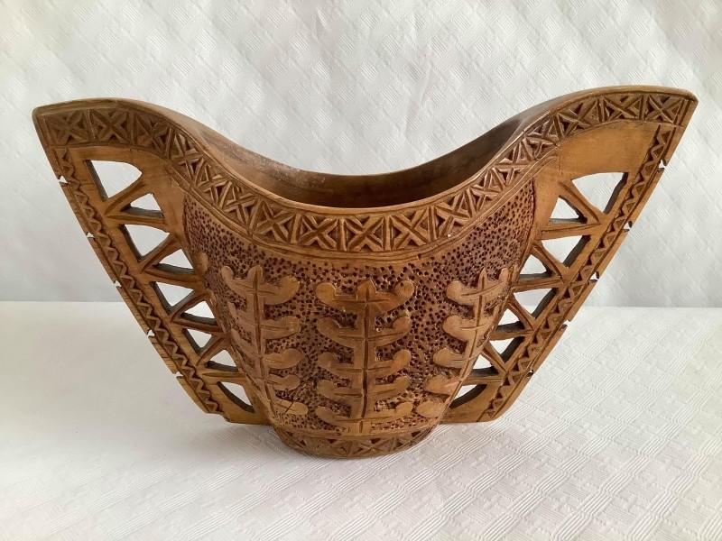Vintage Scandinavische houten huwelijksbeker: Kuksa