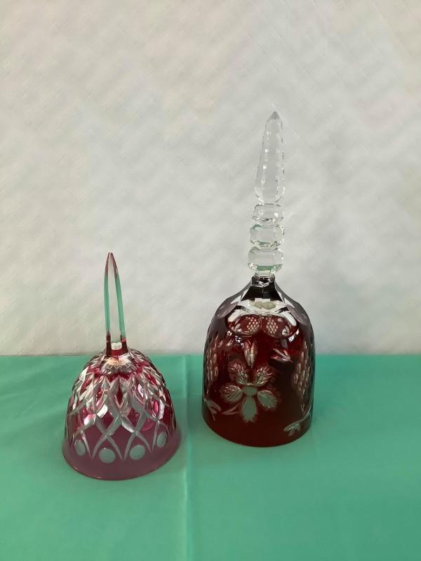 2 kristallen vintage bellen