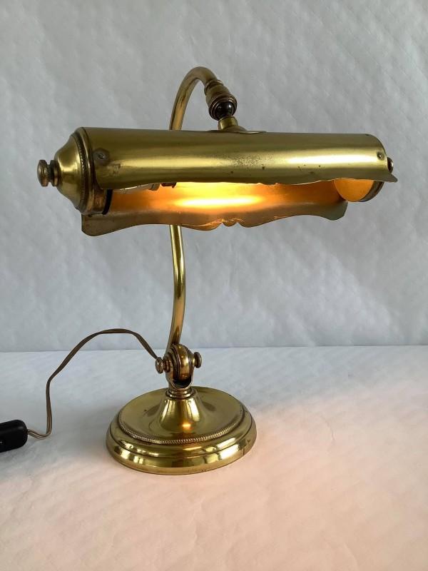 Art nouveau koperen bureaulampje