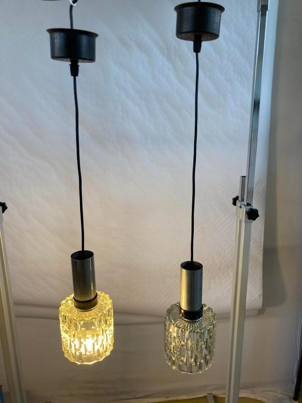 Vintage lampje met glaspegels
