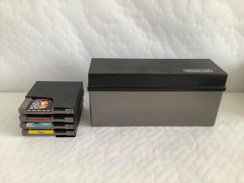 4 Mario Bros games + doos voor de originele Nintendo