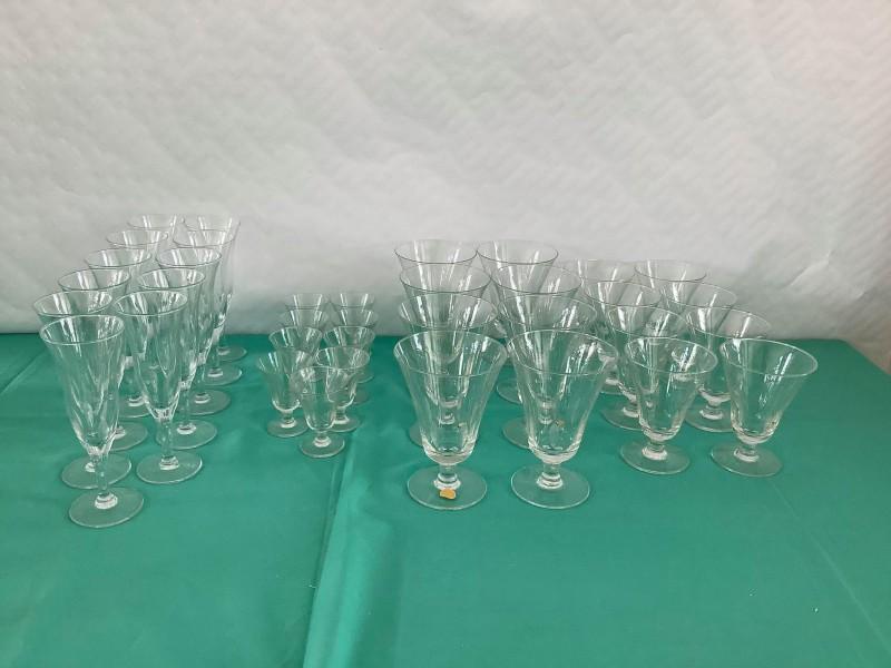Set brocante glazen