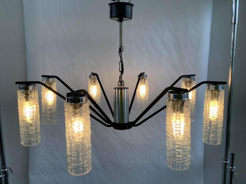 Retro hanglamp met 8 armen
