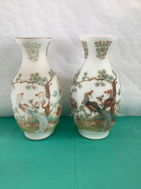 2 Chinese glazen vazen