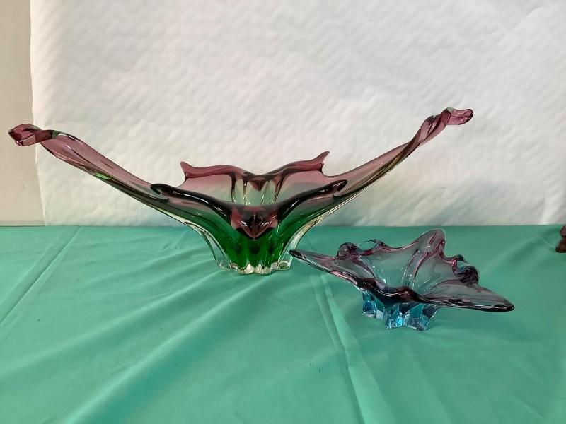 2 glazen schalen Murano