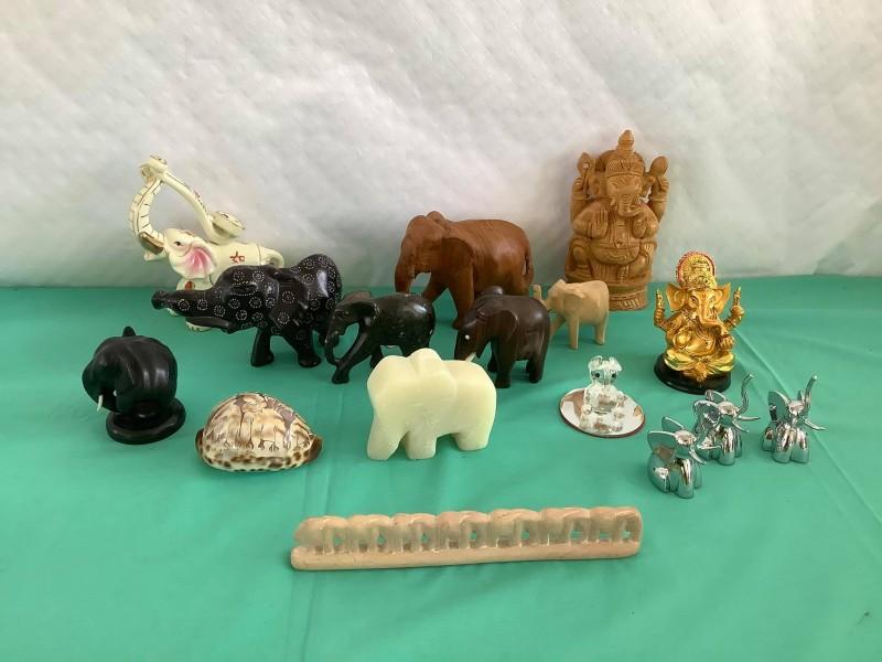 Lot van 16 olifanten