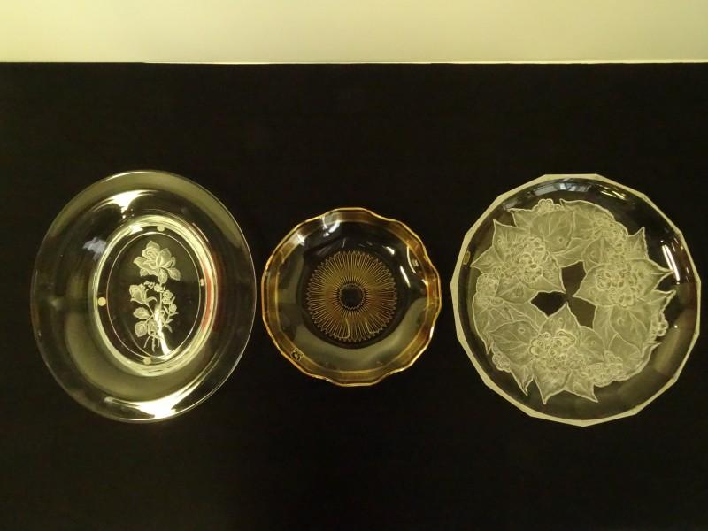 Vintage glazen schalen VSL/Flamingo/Serres