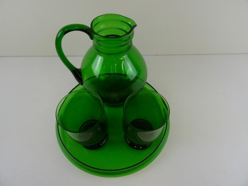 A.D. Copier Groen glas set