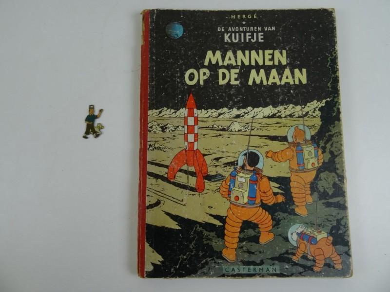 Hergé: Kuifje Mannen op de maan 1955 herdruk + sleutelhanger