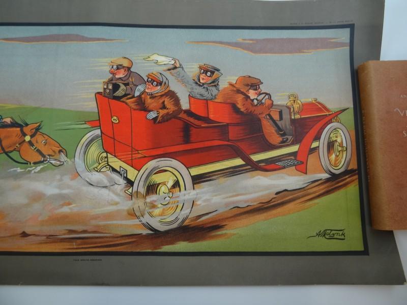Lot 1 A. Molynk: 2 satirische vintage posters