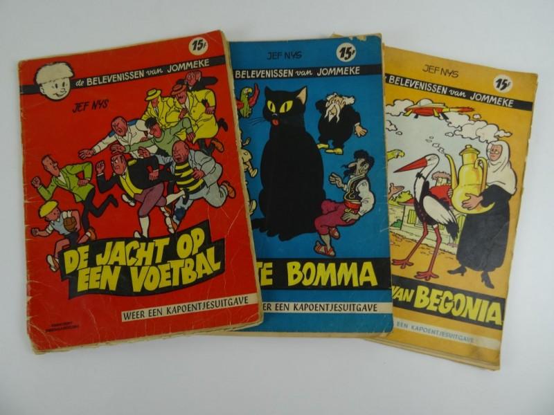 Jef Nys: 3 Jommekesverhalen eerste druk 1959 1961