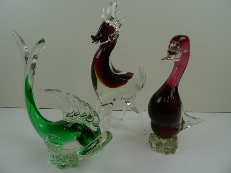 Italiaans glaswerk 3 dieren