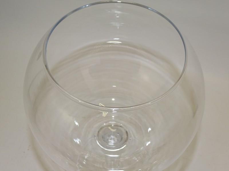 Bolvormige Vaas / Groot Glas Op Voet