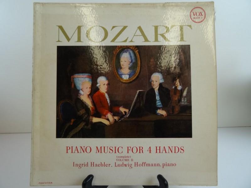 LP:  Wolfgang Amadeus Mozart, Ludwig Hoffmann, Ingrid Haebler – Piano music for 4 hands volume II