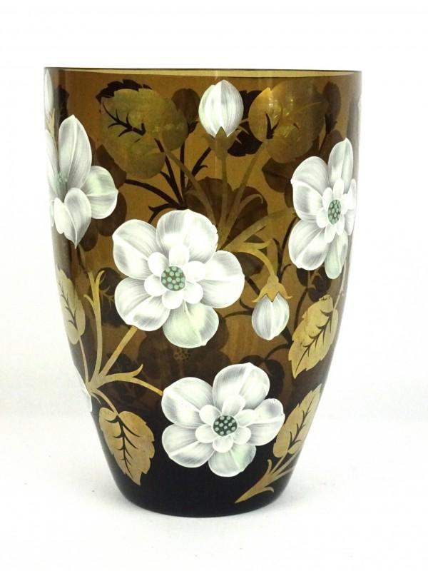 Glazen vaas handgeschilderd