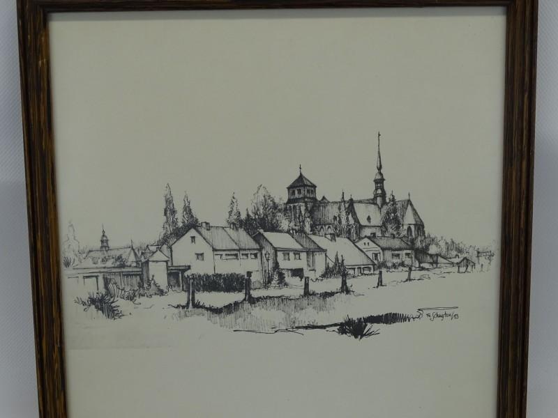 Getekende Print: Fe Schuyten, St-Dimphna reeks, 1983