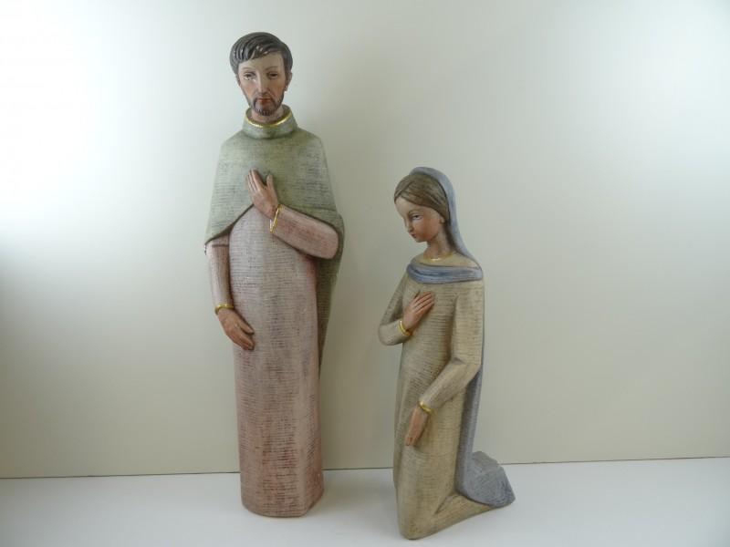 Maria en Jozef in Plaaster