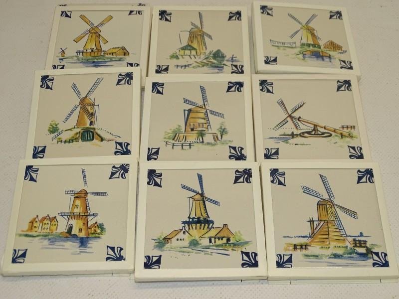 Lot: KLM, Business Class Tegels: A1 tot A9,  Windmolens, 1986