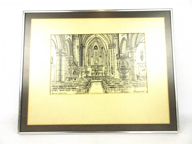 Schets Kerk Opoeteren (Jo Verschueren '82)
