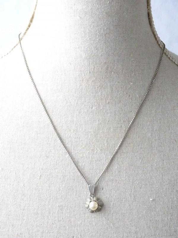 Hoogwaardige zilveren ketting + hangertje met parel.