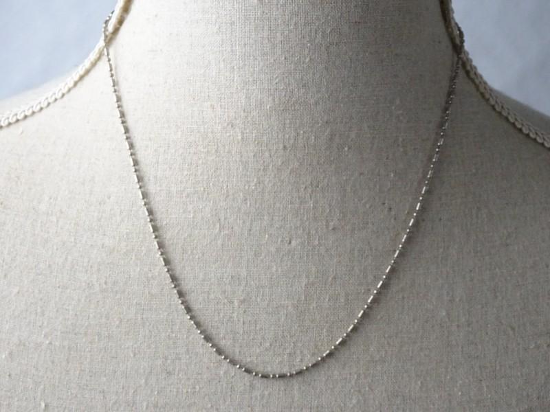 Mooie zilveren ketting met grote en kleine schakels. (Met stempel ITALY en 925)
