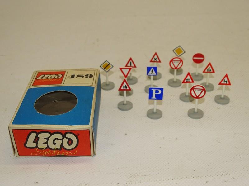 Lego Systems + Doosje: N°489, Verkeersborden, 1966
