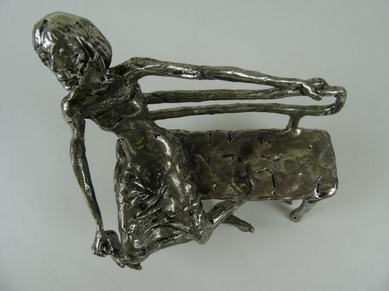 Tinnen beeld De Kotmadam