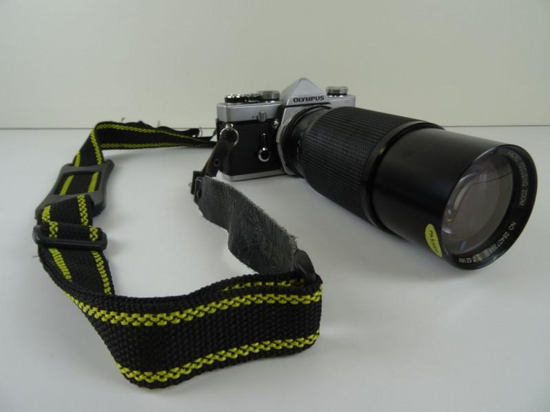 Olympus  OM 1 fototoestel met macro zoom