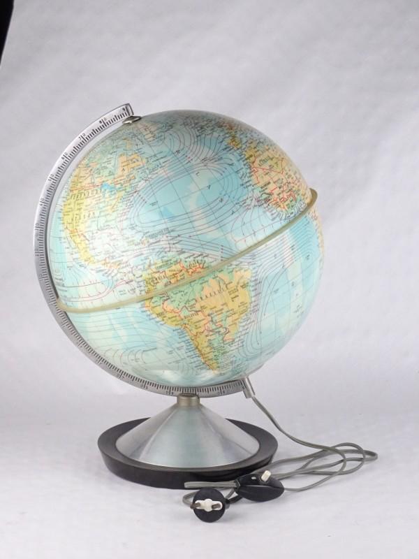 Vintage lichtgevende wereldbol.