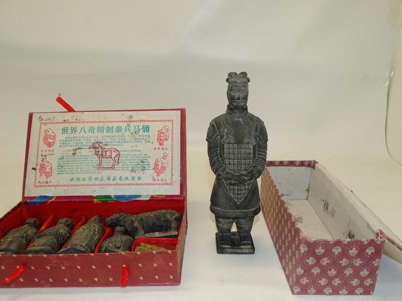 2 Doosjes met Terracotta Leger Figuren van Xi'an