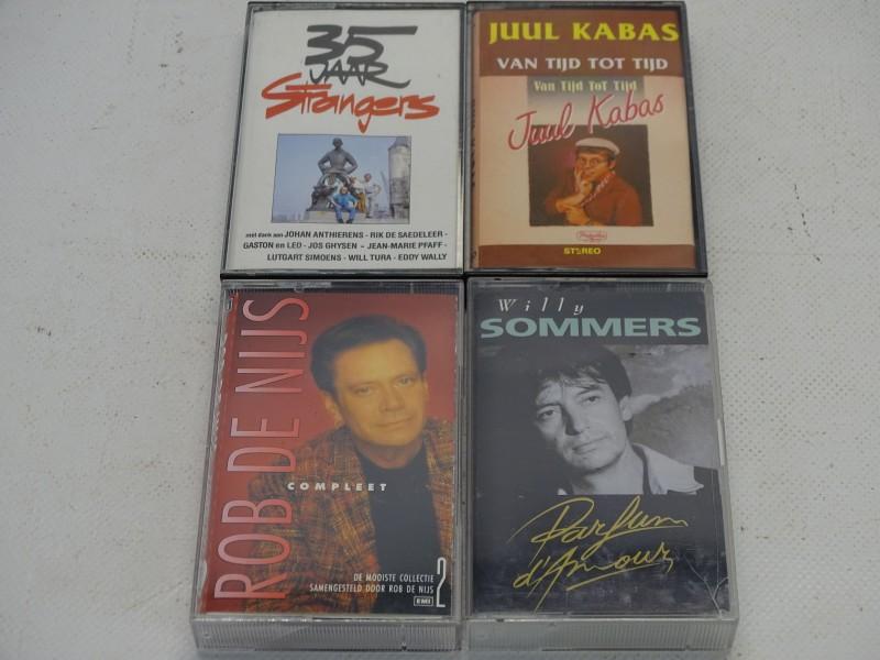 4 x Cassette / Tape: De Strangers, Willy Sommers, Juul Kabas en Rob De Nijs