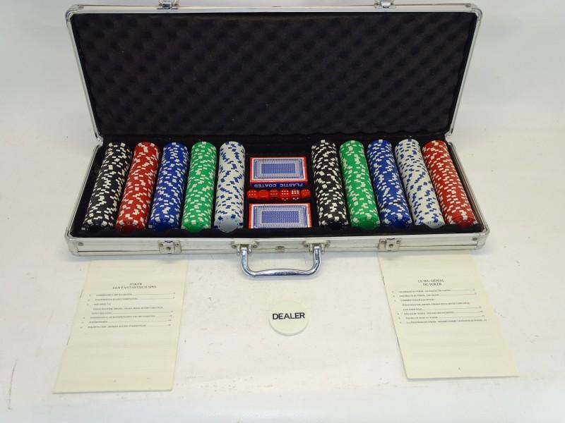 Pokerspel in Aluminium Koffer